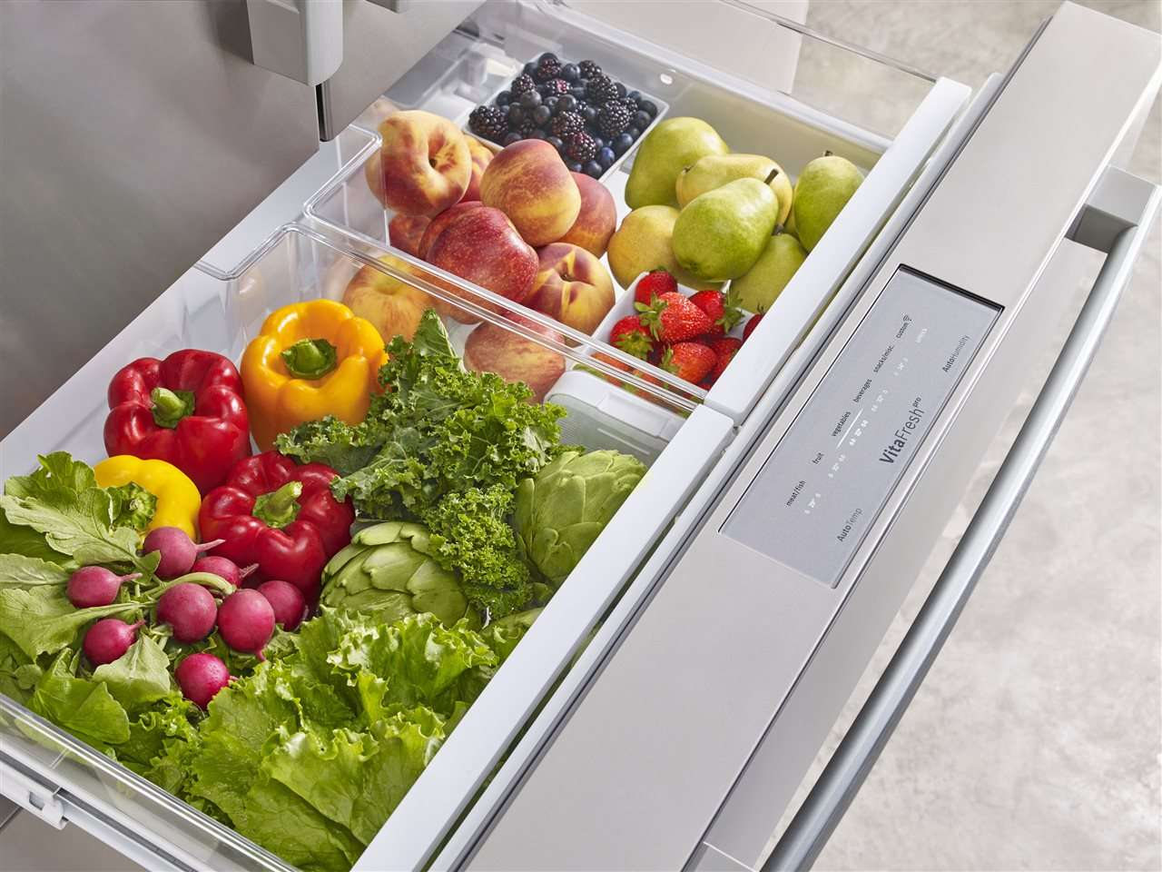 Refrigerator with Veggies