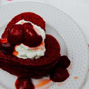 Pink Heart Beet Pancake Recipe