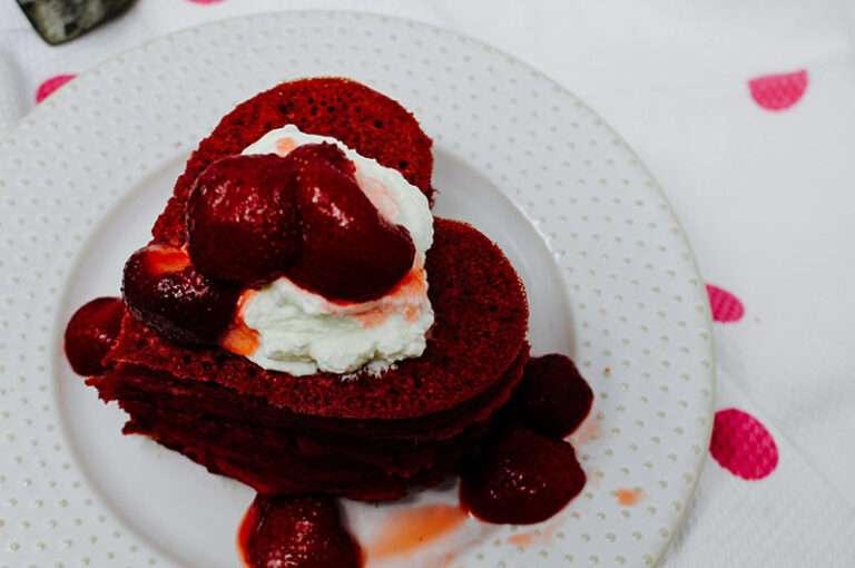 Pink Heart Beet Pancake Recipe